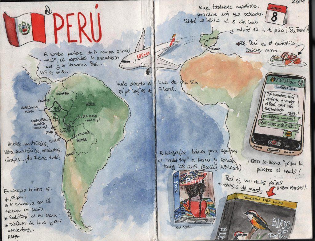 Cuaderno de viajes de Perú